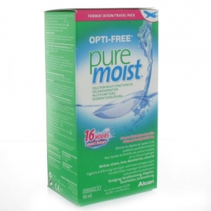 Alcon Opti Free Pure Moist Solution Multi-Fonctions De Decontamination 90 ml