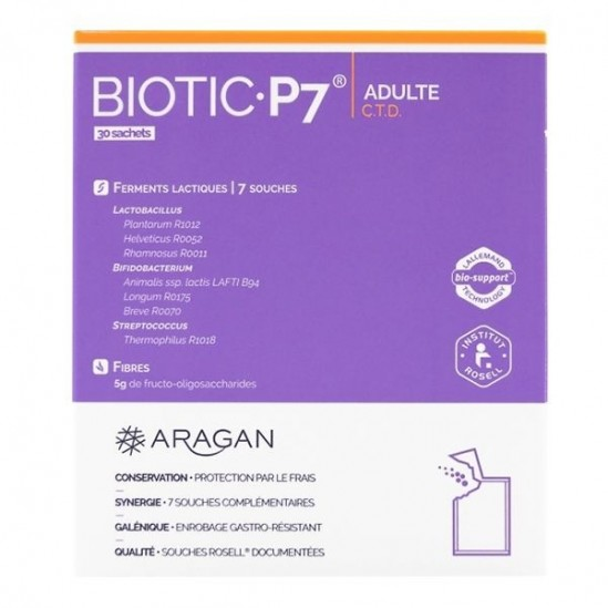 Aragan biotic 7 adulte 30 sachets