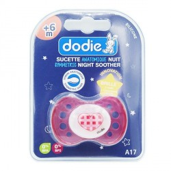 Dodie sucette + 6 mois silicone forme anatomique nuit